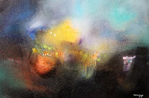 Neena Singh 9  Untitled 24''X36''-Acrylic on canvas