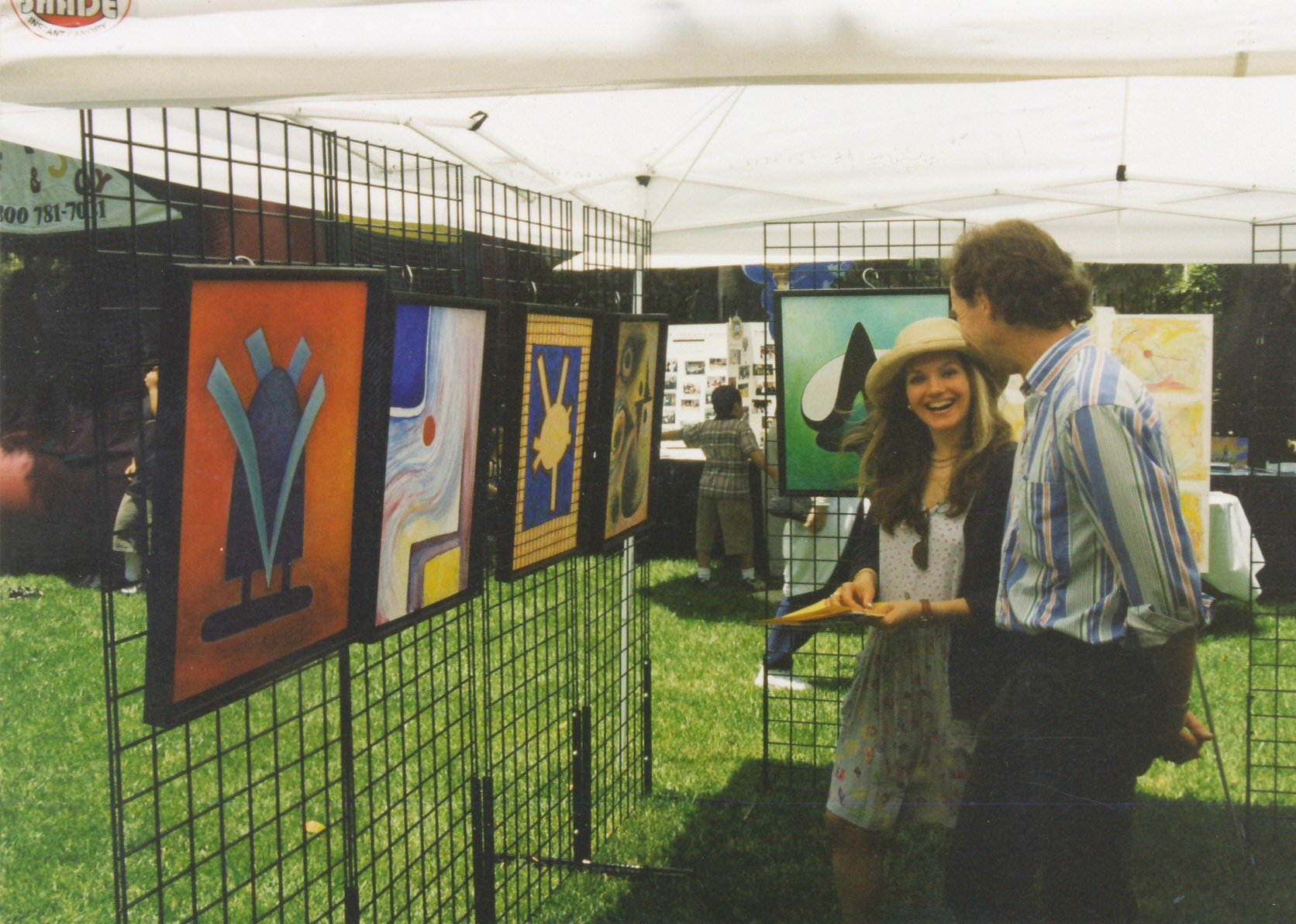 David W. Douthat booth at art festival 1996
