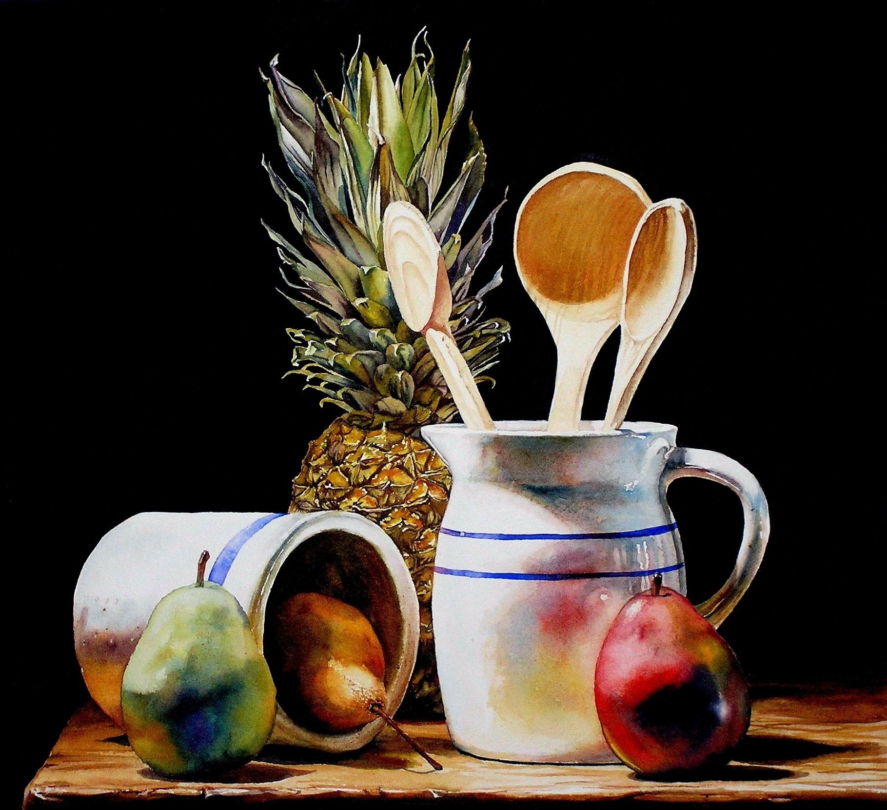 laurin McCracken Three Wooden Spoons 18x18