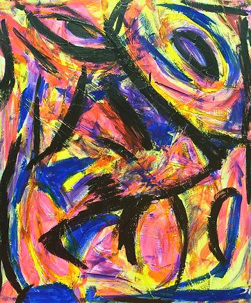 Della PARRILLI, Portrait, 72x60, Acrylic