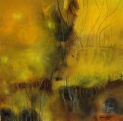 Neena Singh 6  Serenity 30''X30'' Acrylic on canvas