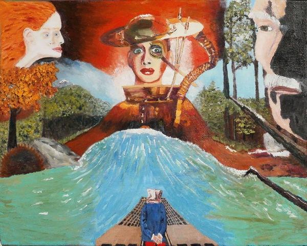 Brent Harris Gods or Monsters 16 x 20 Oil $1500