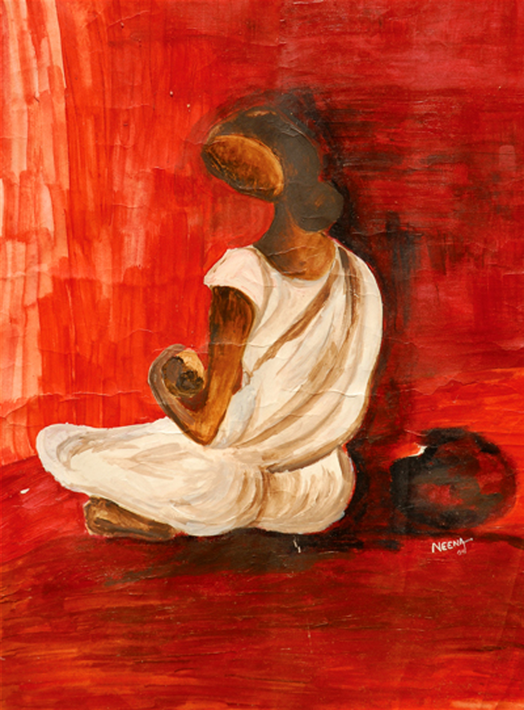 Neena Singh 4  Hope - Acrylic on paper - 22''x15''