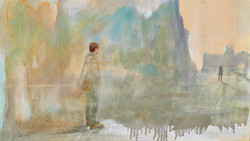 Chrys Roboras I was waiting oil on canvas 40 x 70cm May 2014 $1500