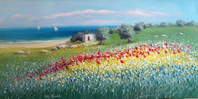 Antonio Anelli  OK   22_Paesaggio a primavera_40x80
