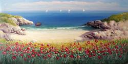 Antonio Anelli  3_Primavera in riva al mare_50x100