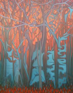 Sami Gjuka Dance of Nature 160x125 cm oil on canvas