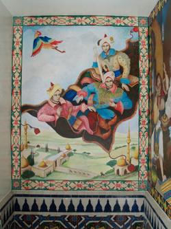 David W. Douthat Arabian Knights bathroom mural _1014322