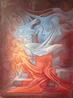Sami Gjuka Birth of Venus, oil on canvas, 150 x 110 cm,