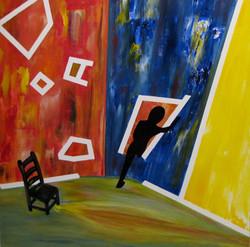 Stacia Gates No More Fear Acrylic on canvas 36x36