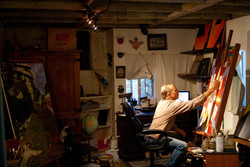 David W. Douthat David_in the studio