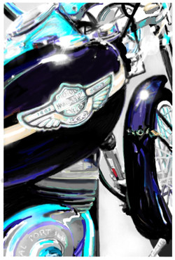 Peter Schachter Mikes Harley