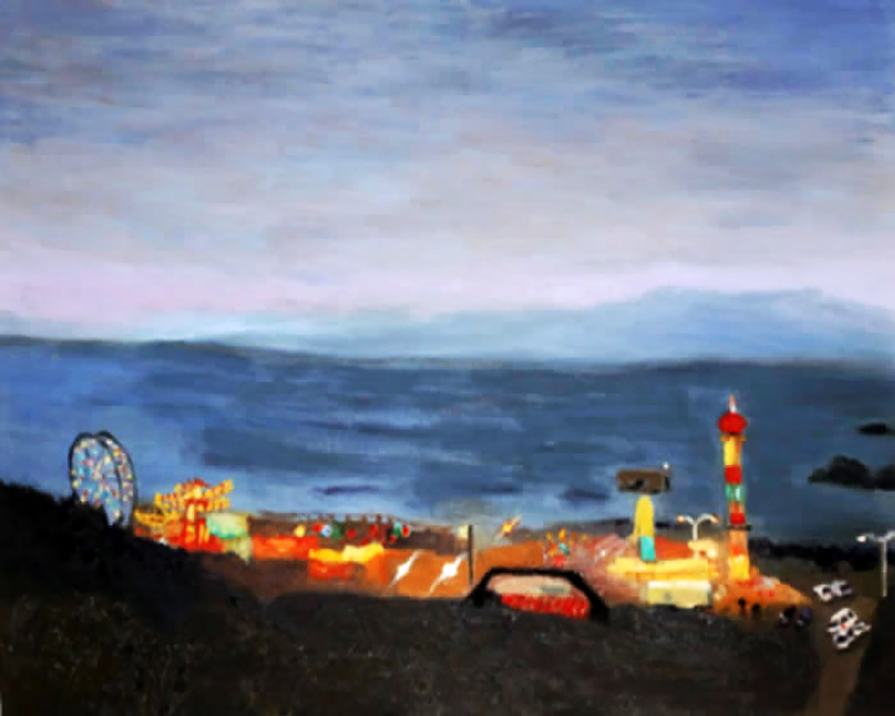 Brent Harris Bright Lights Pacific Ocean 16 x 20 Oil $800
