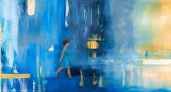 Chrys Roboras And you let her go oil on canvas 60 x 110cm February 2014 $2300