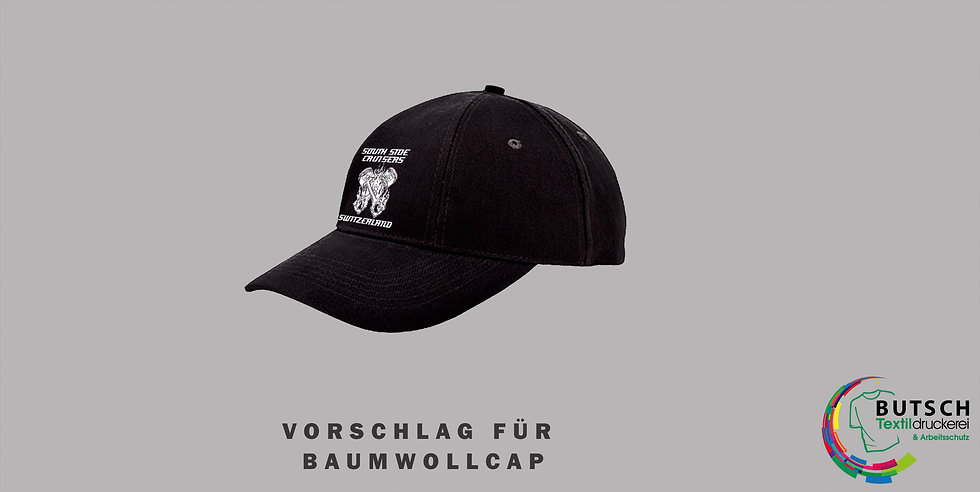 Baumwoll Cap verstellbar