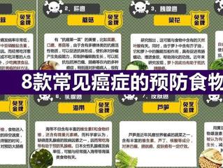 8种癌症的预防食物 !!!