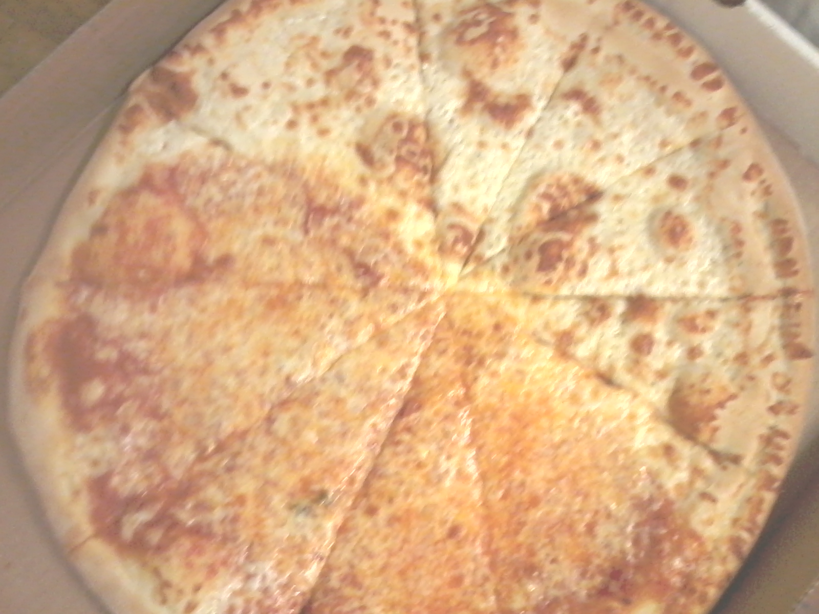 Custom 1/2 Cheese 1/2 White Pizza
