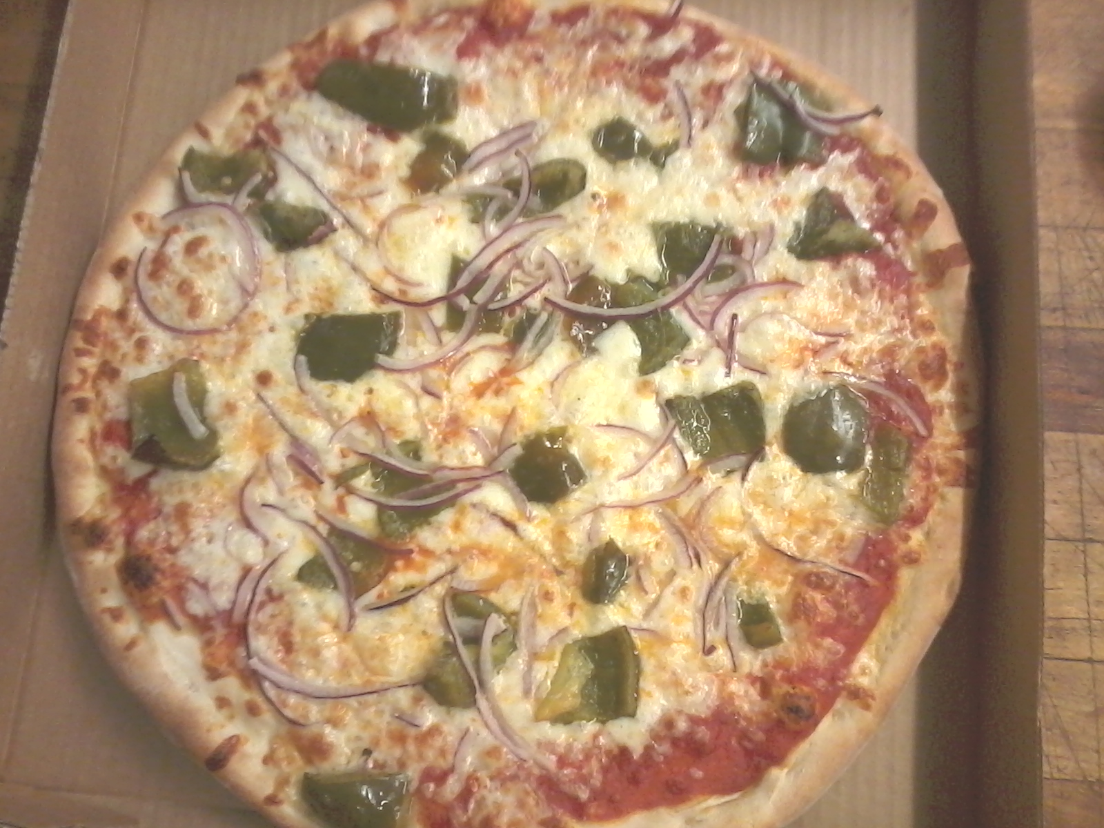 Green Pepper & Onion Pizza