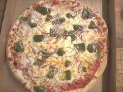 Green Pepper & Onion Pizza