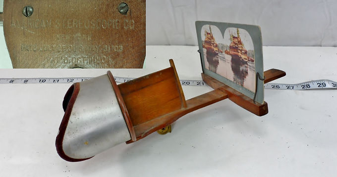 "Stereoscope with one Card by ""American Stereoscopic"""