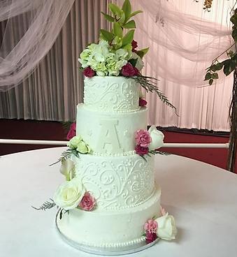 4 Tier Wedding Cake by Sugar Beats Bake Shop
