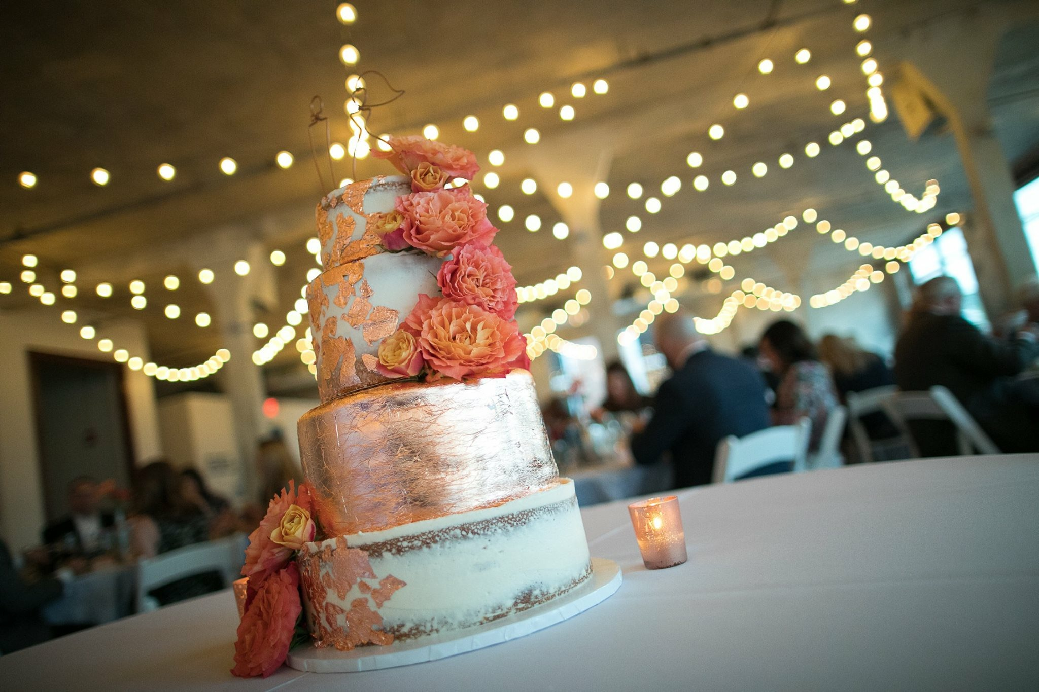 Copper Wedding Cake Accents