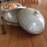 pottery casserole baker