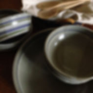 pasta bowls stripes