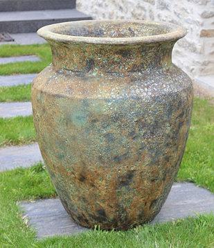 Poterie gr s maill e l 39 ancienne jarres d 39 exception for Amphore piscine decoration