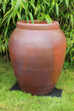 Jarre grès artisanale ancienne H 95 cm D
