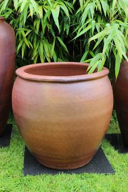 jarre grès artisanale ancienne H76 cm Di