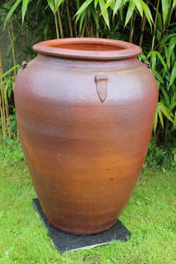 Jarre grès artisanale ancienne H94 cm Di