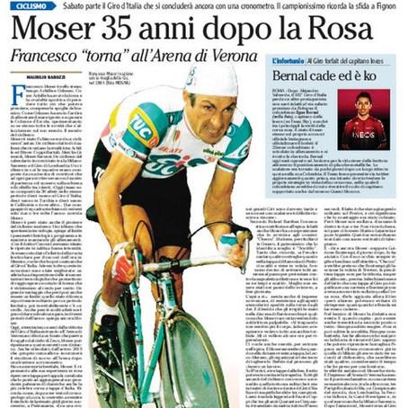 Moser, tra mito e realtà a 35 anni dalla vittoria del Giro d'Italia