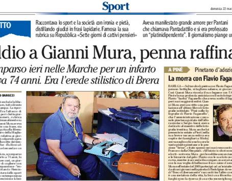 Addio a Gianni Mura, penna raffinata
