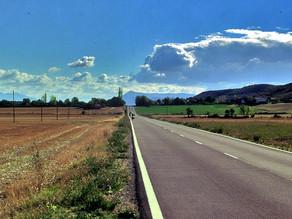 In bici a Compostela. Tappa1. Da Jaca a Viana (Logroño)