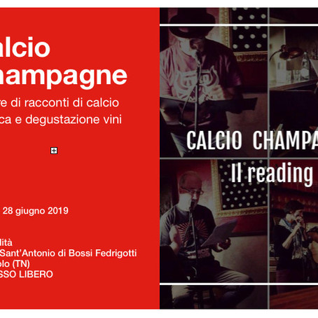 Calcio Champagne: letture, musica, vino