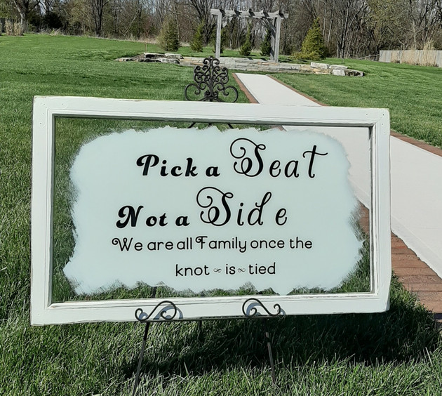 Pick a Seat Glass Sign