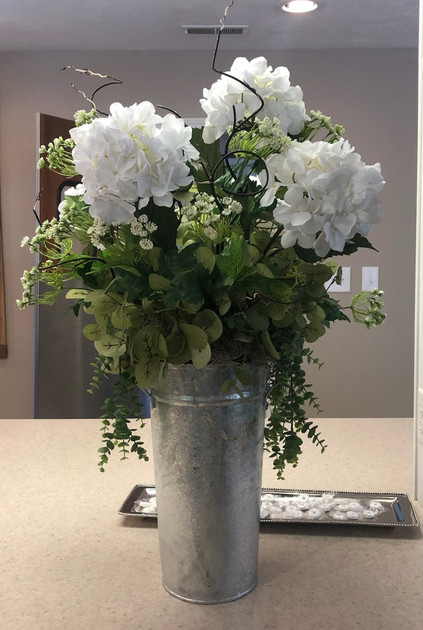 Large Hydrangea in Metal