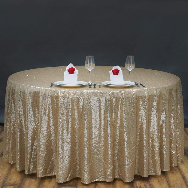"120"" Sequin Table Cloth"