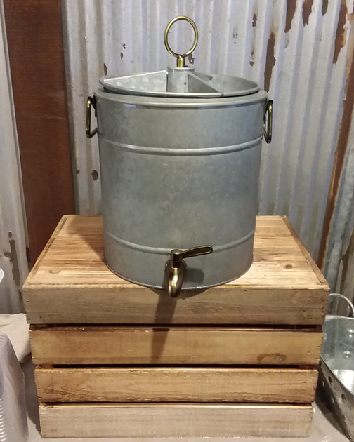 Galvanized Drink Container