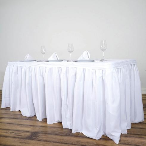 Pleated Table Skirt