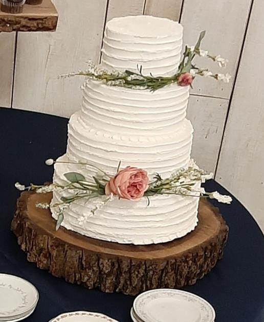 Large Wood Cake Platter