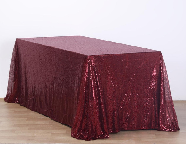 6 ft Sequin Table Cloth