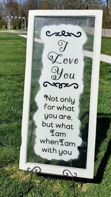 Love Glass Sign