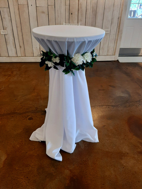 Cocktail Table with Linen