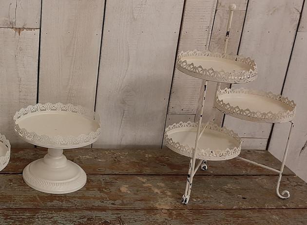 Cream Dessert Stands
