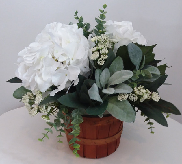Table Hydrangea in Basket