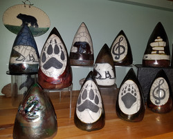 assorted cone shaped rattles