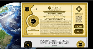 EQORIA First Citizen Certificates. The most valuable NFT Assets on Earth
