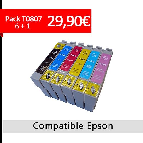 Cartouche Pack T0807 4 + 1 gratuite